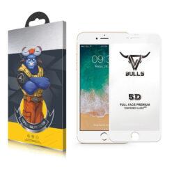 Bulls Premium 5D Skärmskydd iPhone 7 / 8 Vit