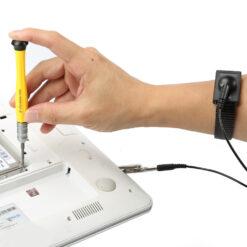 ESD-armband för Montering av Elektroniska komponenter - Svart