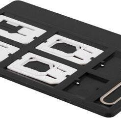 SIM-kortsadapter kit för standard/micro/nano-sim, svart