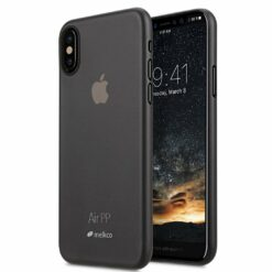 Melkco Air Skal iPhone X/XS Transparent (Svart)