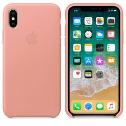 Apple iPhone X Läderskal Original Soft Rosa