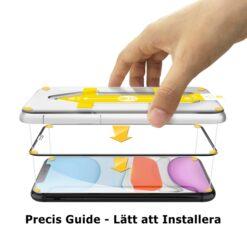 Easy App Skärmskydd iPhone X / XS - Svart