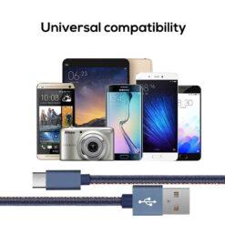 Micro-USB kabel Kompatibel med de Flesta Smarttelefonerna.