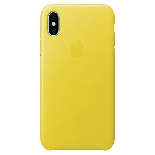 Apple iPhone X Läderskal Original (Vårgul)