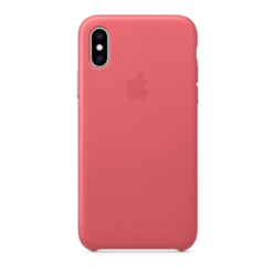 Apple Original iPhone XS Max Läderskal - Pionrosa