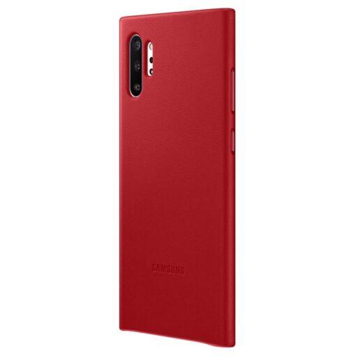 Samsung Galaxy Note 10 Plus Original Läderskal - Röd