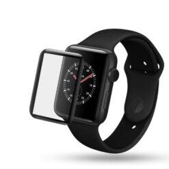 Apple Watch Skärmskydd Heltäckande Härdat 3D glas (38mm)
