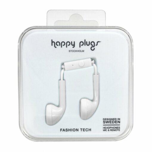 Happy Plugs Earbuds Öronsnäckor (Vit)