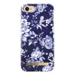 iDeal Fashion Skal för iPhone 6/6S/7/8/SE2 - Segelblå Blomster