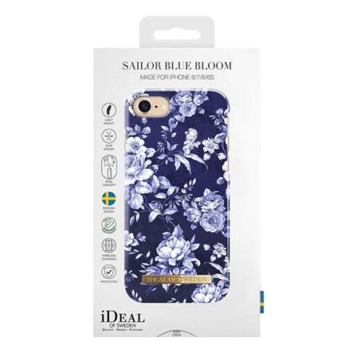 iDeal iPhone 8/7/6/6S/SE2 Skal - Segelblå Blomster