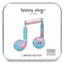 Happy Plugs Earbud Plus Hörlurar - Exotisk Botanik